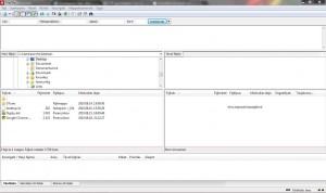 FileZilla képernyő